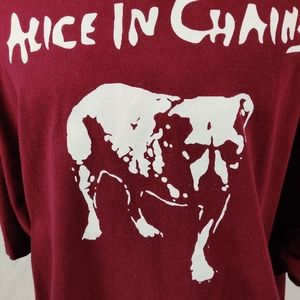 Alstyle Shirts - Alice In Chains Maroon Graphic T Shirt Sz  4XL